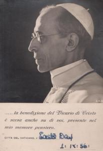 Vicario Di Cristo Citta Del Pope Vaticino Italian Visit 1950s Postcard