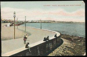 Havana. Prado, Malecon, and Goolf Avenue. Circa 1906. Printed one side only