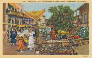 Olivera Street - Typical Early days of Los Angeles CA, California - Linen