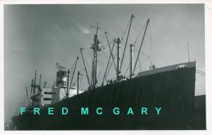 1949 S. S. Exilona RPPC: Former Decorated Attack Transport Wood (APA-56)