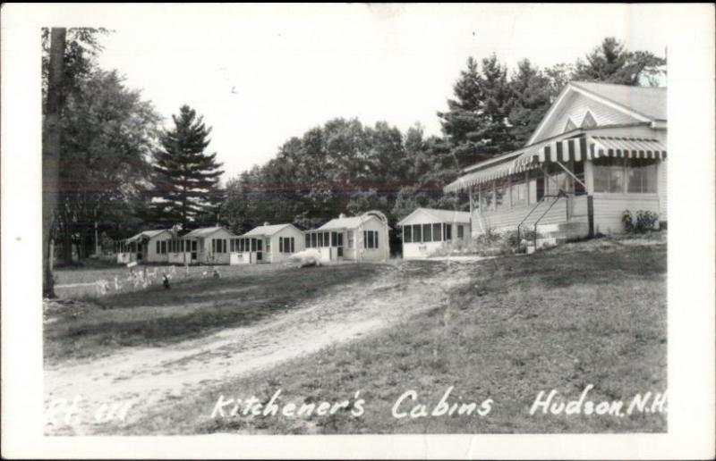 Hudson NH Kitchener's Cabins Real Photo Postcard