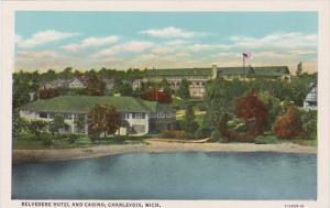 Michigan Charlevoix Belvedere Hotel and Casino Curteich