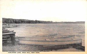 Fowlwood Lake Rock Hill, New York Postcard