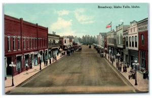 Early 1900s Broadway, Idaho Falls, ID Postcard