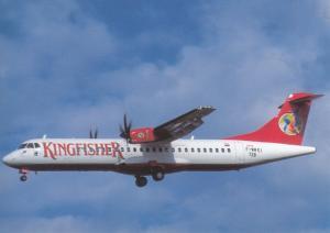 KINGFISHER, ATR-72-210A, unused Postcard