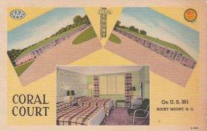 North Carolina Rocky Mountains Coral Court 1952Albertype