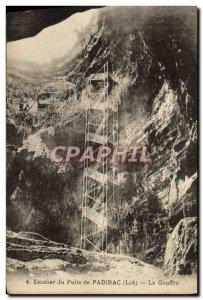 Old Postcard Staircase Du Puits De Padirac Chasm