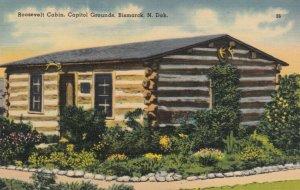 BISMARCK , North Dakota , 30-40s ; Roosevelt Cabin, Capitol Grounds