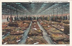 Interior Of A Southern Loose Leaf Tobacco Warehouse Curteich