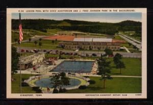 Tennessee colour PC Legion Pool Civic Auditorium,  Kingsport, unused