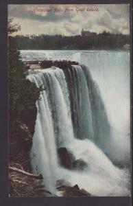 Horseshoe Falls From Goat Island,Niagara Falls,NY Postcard