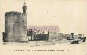 Old Postcard Aigues Mortes Constance Tower and Ramparts north coast