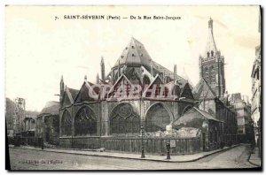 Old Postcard Saint Severin De la Rue Saint Jacques PAris