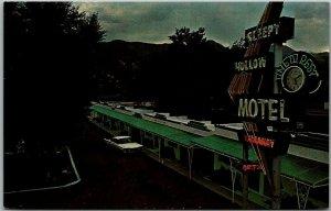 Colorado Springs CO Postcard SLEEPY HOLLOW MOTEL Highway 24 Roadside c1960s