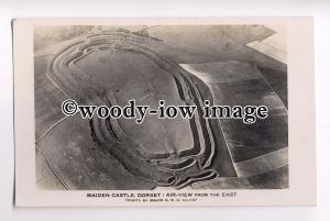 tp0802 - Dorset - An Aerial View of Maiden Castle, in Dorchester  - postcard