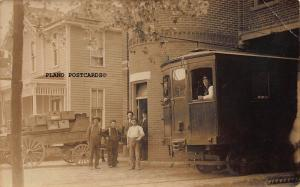 OMAHA AND COUNCIL BLUFFS INTER URBAN CAR-EARLY 1900'S RPPC REAL PHOTO POSTCARD