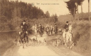 Belgium Spa Drag hunt vers le rendez-vous Jacht Hunting Dogs Posted 1931 03.32