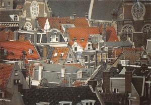 Netherlands Amsterdam Gezicht op Jordaan met Noorderkerk Panorama