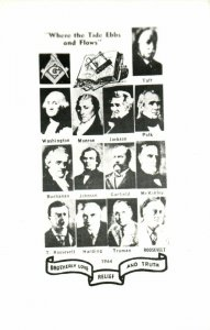 PC CPA FREEMASONRY, WHERE THE TIDE EBBS AND FLOWS, Vintage Postcard (b15782)