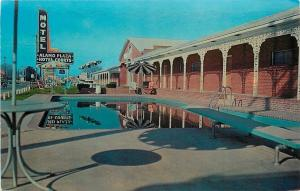 Little Rock Arkansas~Alamo Plaza Hotel Courts~Pool Reflection~1950s PC