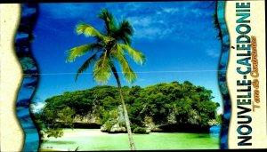 CE0848 new caledonia isles of pines la caillou de kanumera palm pacific ocean