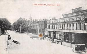 Nappanee Indiana~East Market Street~Hardware~Dietrich Block Stores~Wagons~c1908