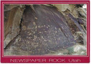 US  Unused. Newspaper Rock, Utah. Indian Petroglyphs.   Beautiful.