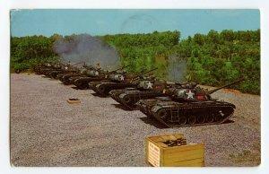 Postcard Trainees U. S. Army Battle Tanks Firing Fort Knox KY Standard View Card