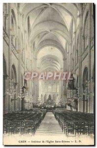 Old Postcard Caen Interior L & # 39Eglise Saint Etienne