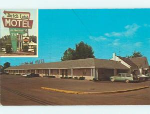 Unused Pre-1980 OLD CARS & DUTCH LAND MOTEL Denver Pennsylvania PA s6093