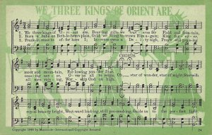 We Three Kings of Orient Are  Postcard Unused