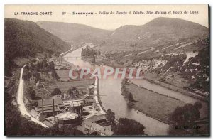 Old Postcard Besancon Doubs Valley has Velotte the island Malpas and Lyons road