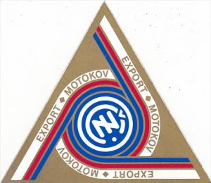 EXPORT TEAM MOTOKOV AUTO MANUFACTURING LABEL CZECHOSLOVAKIA