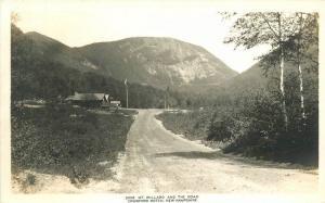 Crawford Notch New Hampshire 1920s Mt Willard Road Flag RPPC real photo 6794
