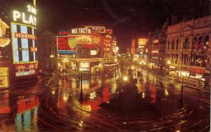 UK - England, London. Piccadilly at Night