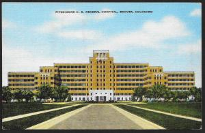 Fitzsimmons US General Hospital Denver Colorado Unused c1940s