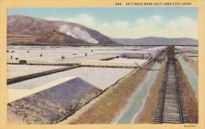 Utah Salt Beds Near Salt Lake City Curteich