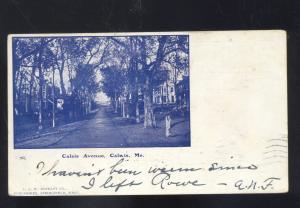 CALAIS MAINE CALAIS AVENUE RESIDENCE STREET SCENE VINTAGE POSTCARD 1905