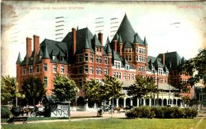 Canada - Quebec, Montreal. Place Viger Hotel & Railway Station
