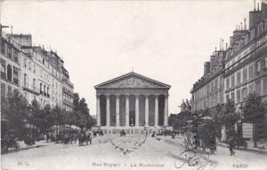 France Paris Rue Royale La Madeleine 1906