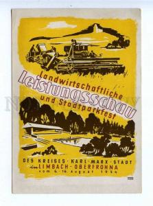 195934 GERMANY ADVERTISING agricultural exhibition postcard