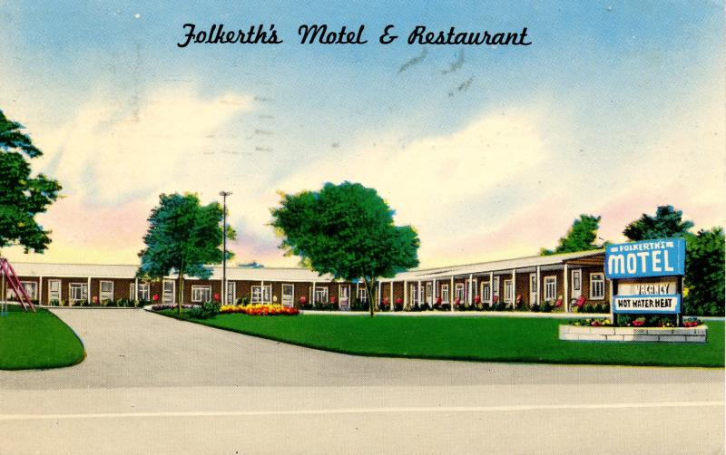 NY - Alden. Folkerth's Motel & Restaurant