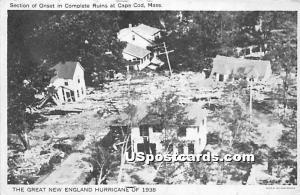 The Great New England Hurricane of 1938 Cape Cod MA Unused