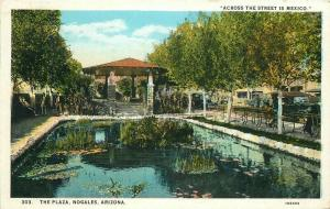 1930 The Plaza Postcard Nogales Arizona Herz Teich 5652