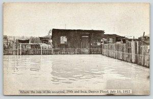 Denver Colorado~29th & Inca: Where Loss of Life Occurred~July 14~1912 Flood PC