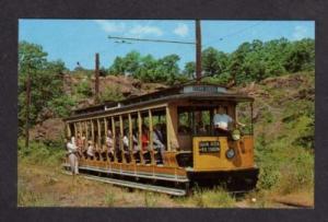 CT New Haven Trolley Train Car CONNECTICUT Postcard