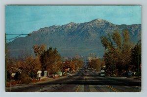 Ogden UT-Utah, Ben Lomond Peak, Wasatch Range, Chrome Postcard