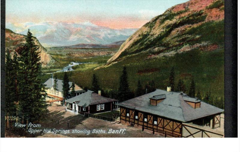 BANFF, Alberta, Canada; View from Upper Hot Springs showing Baths, 00-10s