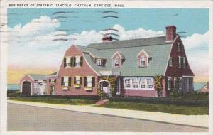 Residence Of Loseph C Lincoln Chatham Cape Cod Massachusetts 1938