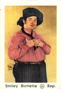 Movie Actor Smiley Burnette Rep.